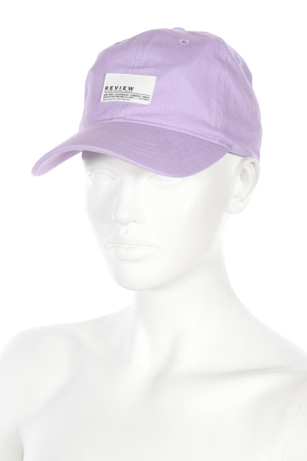 Καπέλο Review, Χρώμα Βιολετί, Βαμβάκι, Τιμή 10,05€