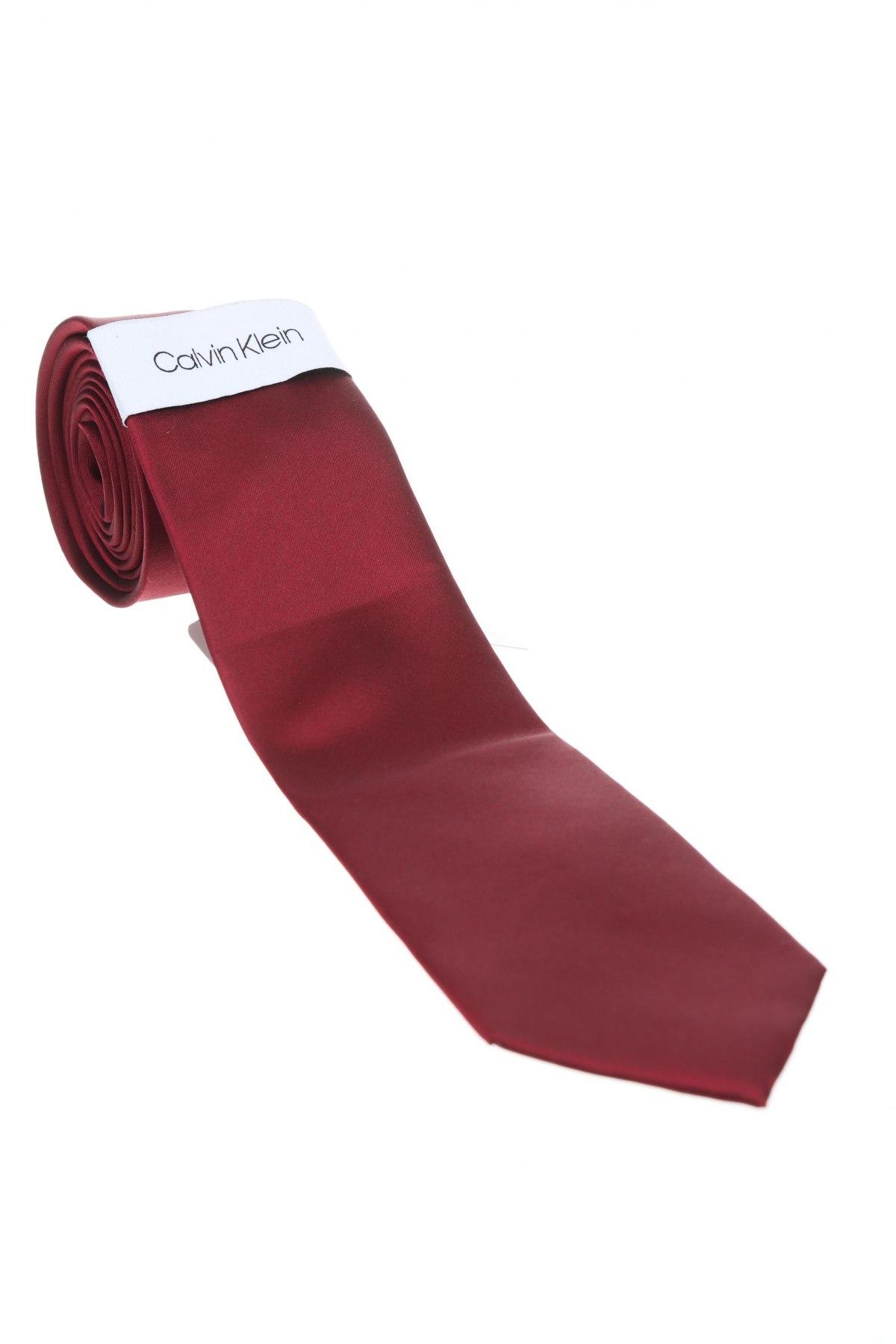 Γραβάτα Calvin Klein, Χρώμα Κόκκινο, Μετάξι, Τιμή 14,23€