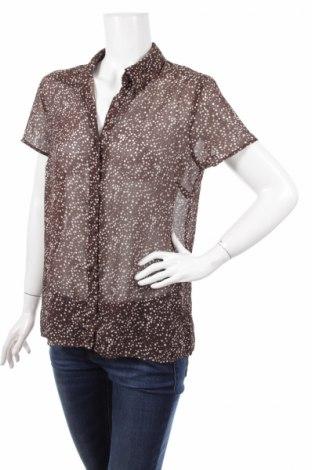 Γυναικείο πουκάμισο Christopher & Banks, Μέγεθος M, Χρώμα Καφέ, Πολυεστέρας, Τιμή 2,97€
