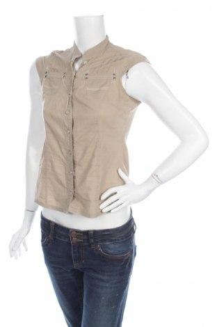 Γυναικείο πουκάμισο Sancred, Μέγεθος S, Χρώμα  Μπέζ, 100% βαμβάκι, Τιμή 9,90€