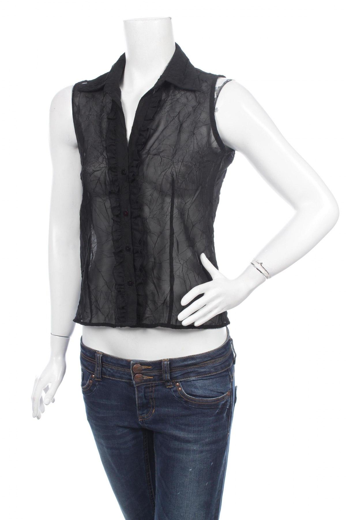 Γυναικείο πουκάμισο Biaggini, Μέγεθος S, Χρώμα Μαύρο, Τιμή 9,28€