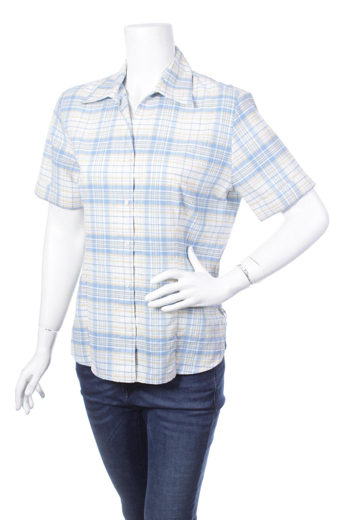 Γυναικείο πουκάμισο Larissa, Μέγεθος L, Χρώμα Πολύχρωμο, 48% πολυεστέρας, 27% πολυαμίδη, 13% βαμβάκι, 11% βισκόζη, 1% ελαστάνη, Τιμή 9,28€