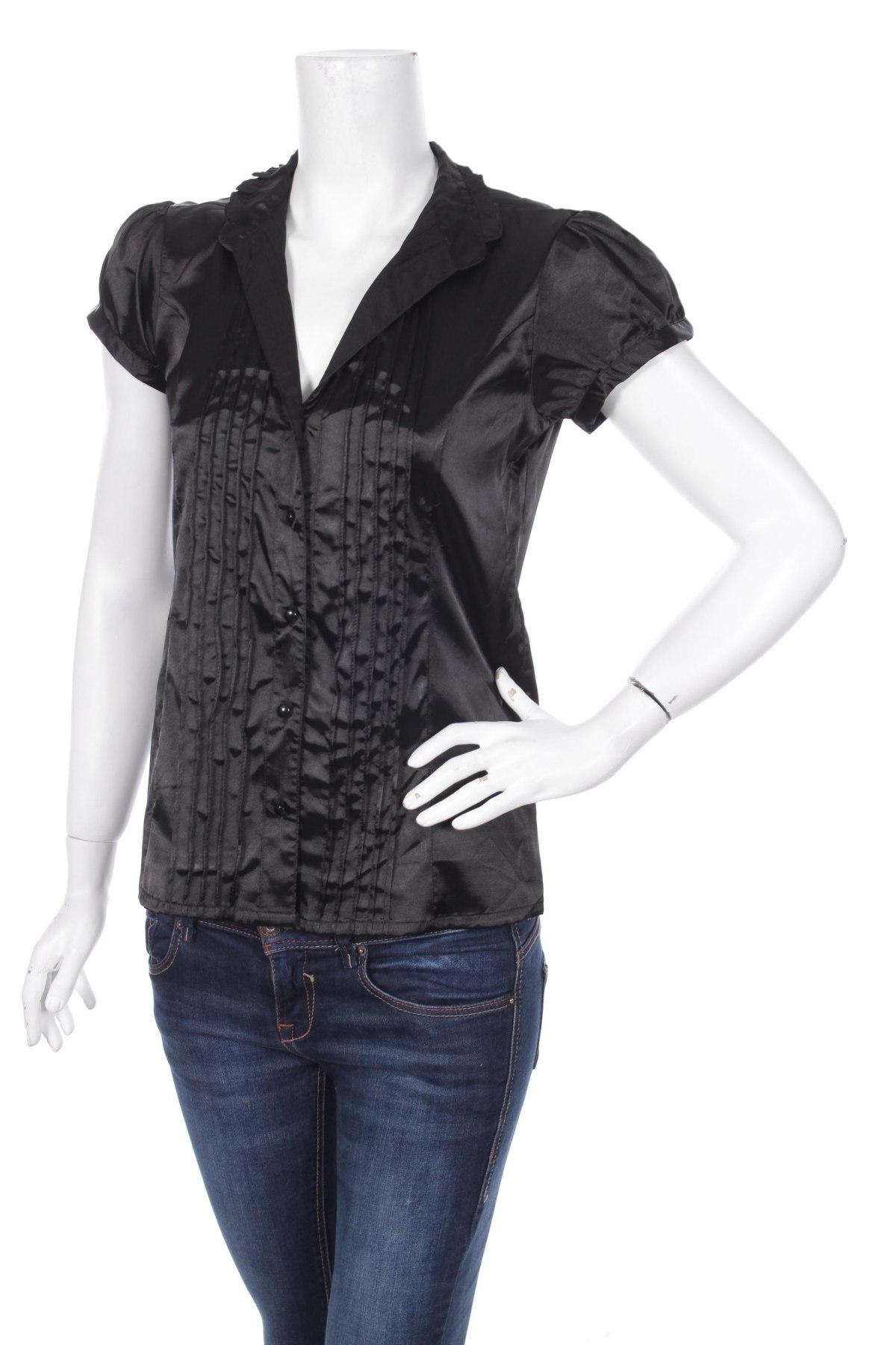 Γυναικείο πουκάμισο Women's Fashion, Μέγεθος M, Χρώμα Μαύρο, 97% πολυεστέρας, 3% ελαστάνη, Τιμή 11,13€