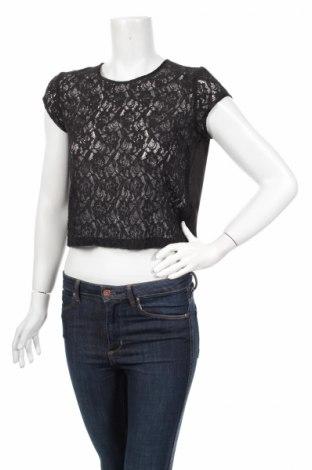 Γυναικεία μπλούζα H&M Divided, Μέγεθος M, Χρώμα Μαύρο, 75% βαμβάκι, 19% πολυαμίδη, 6% βισκόζη, Τιμή 3,61€