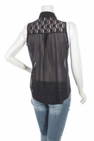 Γυναικείο πουκάμισο, Μέγεθος M, Χρώμα Μαύρο, 100% πολυεστέρας, Τιμή 11,13€