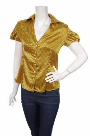 Γυναικείο πουκάμισο, Μέγεθος L, Χρώμα Κίτρινο, 95% βαμβάκι, 5% ελαστάνη, Τιμή 16,08€