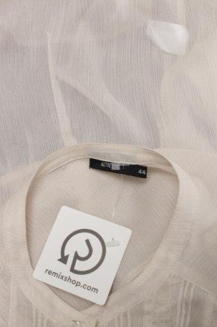 Γυναικείο πουκάμισο Autre Ton, Μέγεθος L, Χρώμα Εκρού, Τιμή 19,59€