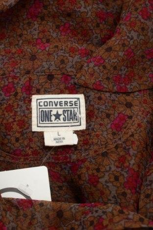 Γυναικείο πουκάμισο Converse, Μέγεθος L, Χρώμα Πολύχρωμο, Πολυεστέρας, Τιμή 18,56€