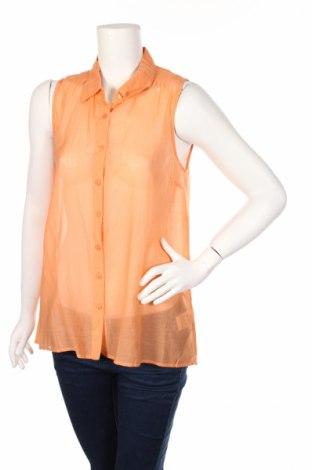 Дамска риза Kaffe, Размер L, Цвят Оранжев, 65% вискоза, 35% памук, Цена 7,40лв.