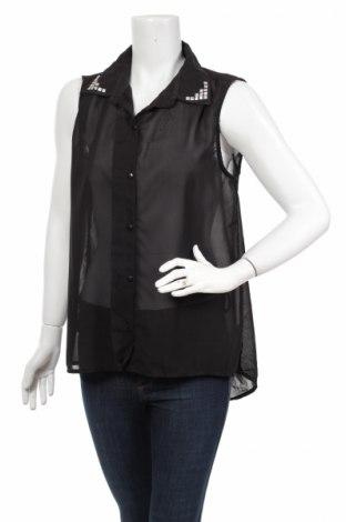 Γυναικείο πουκάμισο Milla, Μέγεθος L, Χρώμα Μαύρο, Πολυεστέρας, Τιμή 15,46€