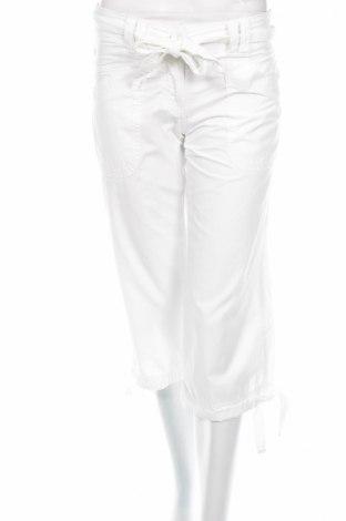 Дамски панталон H&M, Размер XS, Цвят Бял, 100% памук, Цена 6,72лв.