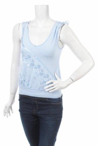 Γυναικείο αμάνικο μπλουζάκι Bay, Μέγεθος M, Χρώμα Μπλέ, 95% βισκόζη, 5% ελαστάνη, Τιμή 3,03€