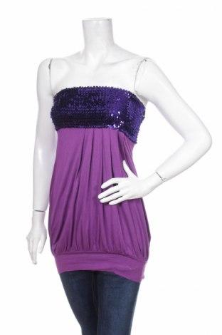 Γυναικείο αμάνικο μπλουζάκι Melrose, Μέγεθος XS, Χρώμα Βιολετί, 95% βισκόζη, 5% ελαστάνη, Τιμή 2,48€