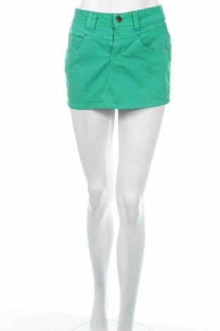 Пола Zara Trafaluc, Размер M, Цвят Зелен, 98% памук, 2% еластан, Цена 26,60лв.