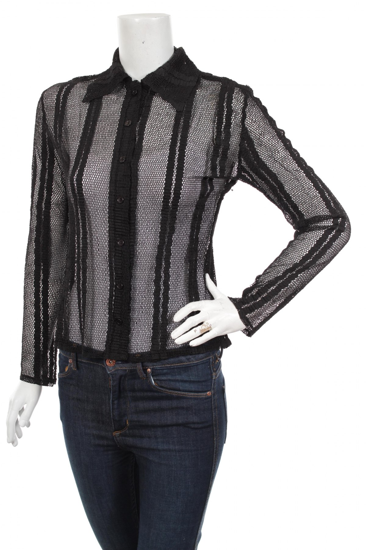 Γυναικείο πουκάμισο, Μέγεθος M, Χρώμα Μαύρο, Τιμή 26,80€