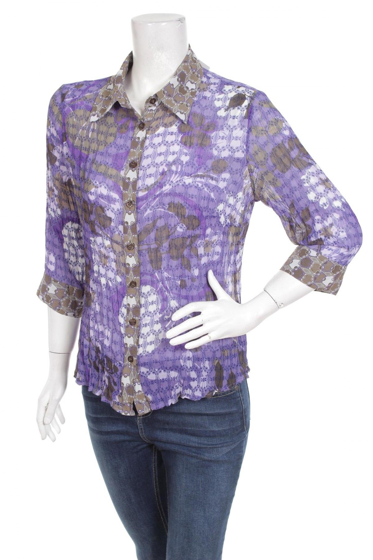 Γυναικείο πουκάμισο One Touch, Μέγεθος M, Χρώμα Βιολετί, Πολυεστέρας, Τιμή 13,61€