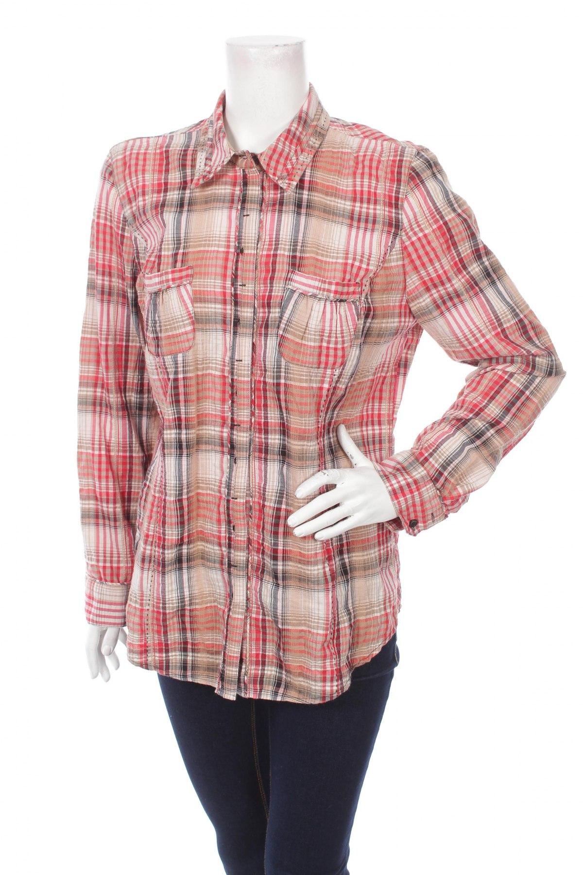 Γυναικείο πουκάμισο Bonita, Μέγεθος L, Χρώμα Πολύχρωμο, 61% βαμβάκι, 38% πολυεστέρας, 1% ελαστάνη, Τιμή 18,56€