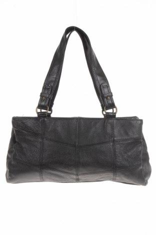 Γυναικεία τσάντα, Χρώμα Μαύρο, Γνήσιο δέρμα, Τιμή 7,35€