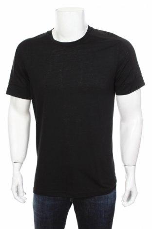 Мъжка тениска Adidas, Размер M, Цвят Черен, 50% полиестер, 25% памук, 25% вискоза, Цена 34,50лв.