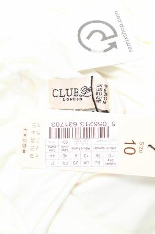 Рокля Club L, Размер M, Цвят Екрю, 95% полиестер, 5% еластан, Цена 91,65лв.