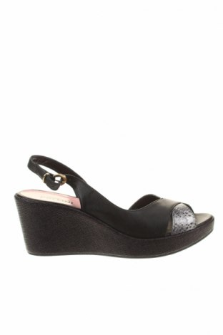 Sandály  Pollini, Veľkosť 40, Farba Čierna, Pravá koža , Cena  96,52€