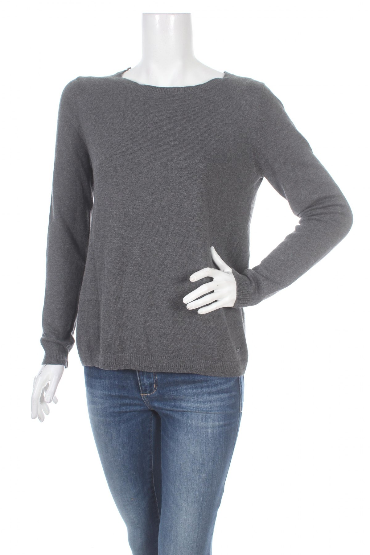 Дамски пуловер Tom Tailor, Размер S, Цвят Сив, 50% памук, 25% вискоза, 20% полиамид, 5% кашмир, Цена 44,20лв.