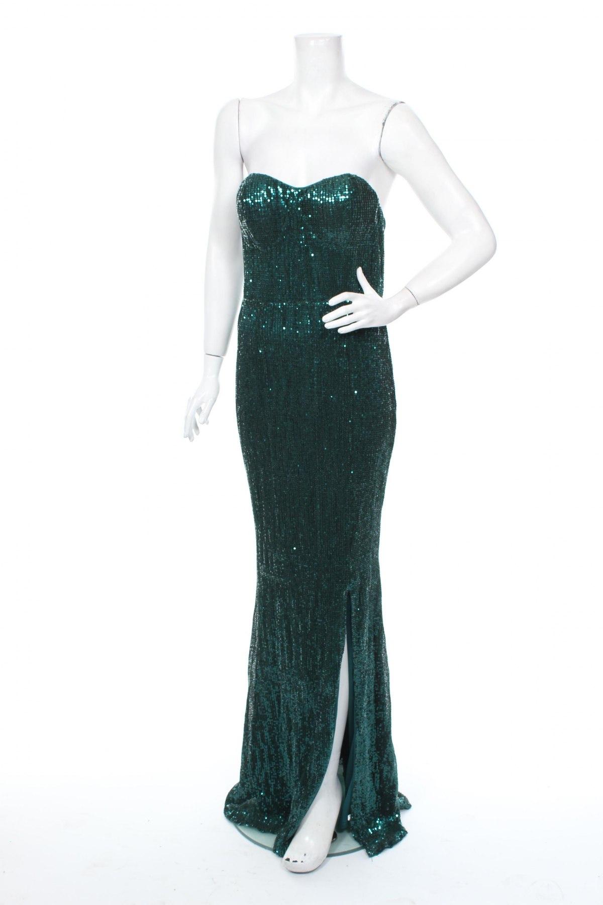 Рокля Club L, Размер M, Цвят Зелен, Цена 133,25лв.
