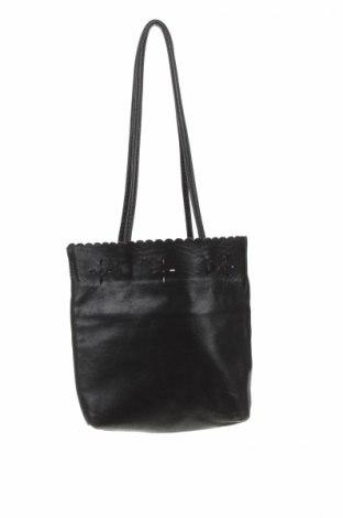 Γυναικεία τσάντα Aridza Bross, Χρώμα Μαύρο, Γνήσιο δέρμα, Τιμή 12,06€