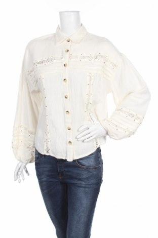 Γυναικείο πουκάμισο Free People, Μέγεθος S, Χρώμα Εκρού, 64% βαμβάκι, 36% μοντάλ, Τιμή 21,03€