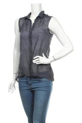 Дамска риза H&M, Размер XS, Цвят Сив, Полиестер, Цена 3,75лв.