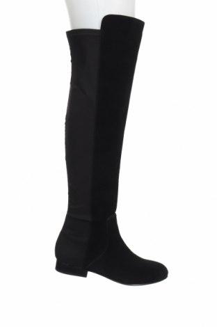 Дамски ботуши BCBG Max Azria, Размер 36, Цвят Черен, Естествен велур, текстил, Цена 330,72лв.