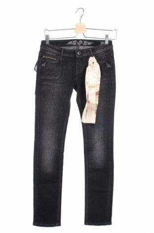 Γυναικείο Τζίν Bandits Du Monde, Μέγεθος XS, Χρώμα Μαύρο, 99% βαμβάκι, 1% ελαστάνη, Τιμή 18,58€