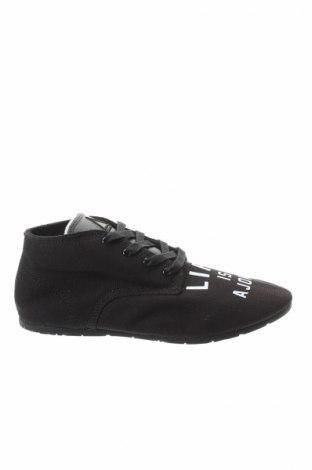 Дамски обувки Eleven Paris, Размер 38, Цвят Черен, Текстил, естествена кожа, Цена 52,15лв.