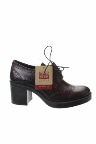 Дамски обувки Gioseppo, Размер 39, Цвят Червен, Естествена кожа, Цена 56,88лв.