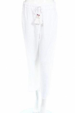 Дамски панталон Antibes Blanc, Размер L, Цвят Бял, Лен, Цена 12,65лв.