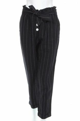 Дамски панталон Mango, Размер M, Цвят Черен, Лен, Цена 34,00лв.
