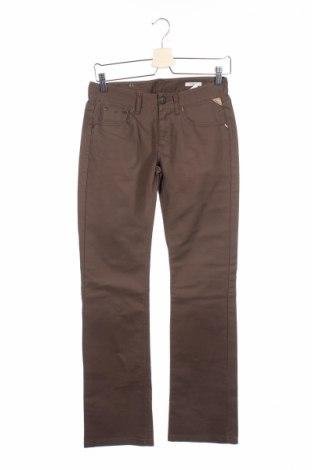 Дамски панталон Replay, Размер S, Цвят Кафяв, 97% памук, 3% еластан, Цена 12,57лв.