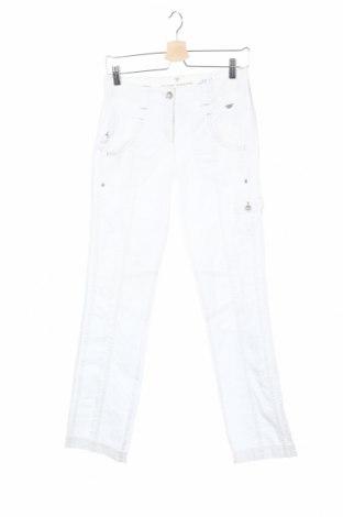 Дамски панталон Tom Tailor, Размер XS, Цвят Бял, 100% памук, Цена 9,50лв.