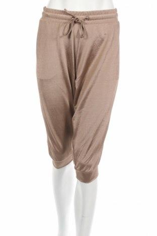 Pantaloni trening de femei Crivit, Mărime XL, Culoare Bej, 92% poliester, 8% elastan, Preț 16,58 Lei