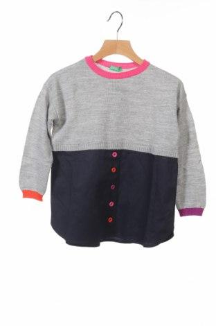 Pulover de copii United Colors Of Benetton, Mărime 4-5y/ 110-116 cm, Culoare Gri, Acrilic, Preț 114,47 Lei