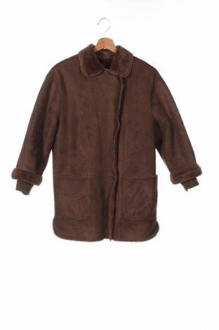 Детско палто Zara, Размер 10-11y/ 146-152 см, Цвят Кафяв, Полиестер, Цена 38,00лв.