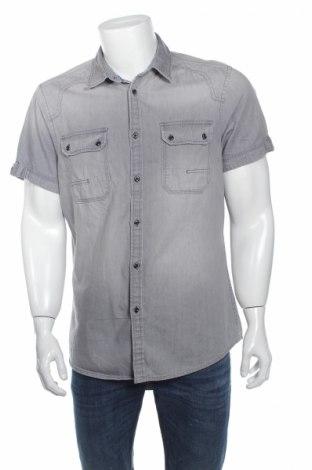 Мъжка риза Angelo Litrico, Размер L, Цвят Сив, Памук, Цена 8,10лв.