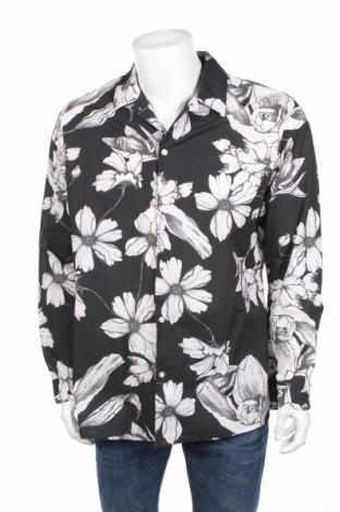 Мъжка риза Mango, Размер M, Цвят Сив, Памук, Цена 16,80лв.