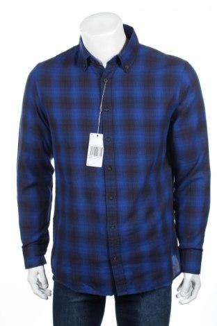 Мъжка риза Mango, Размер L, Цвят Син, Памук, Цена 13,00лв.