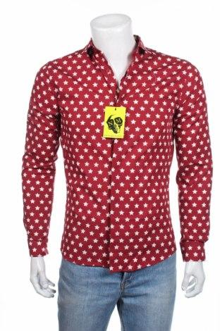 Ανδρικό πουκάμισο Noose & Monkey, Μέγεθος S, Χρώμα Κόκκινο, 100% βαμβάκι, Τιμή 8,04€