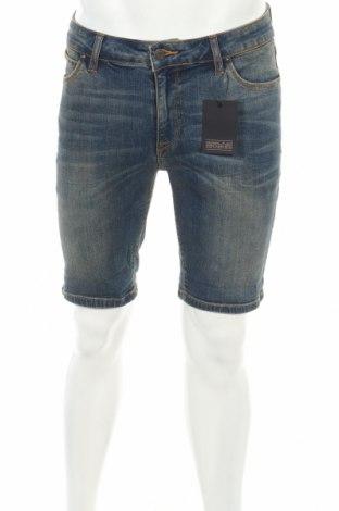 Pantaloni scurți de bărbați ASOS, Mărime S, Culoare Albastru, 98% bumbac, 2% elastan, Preț 74,52 Lei