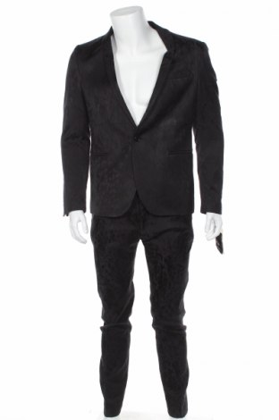 Ανδρικό κοστούμι Drykorn for beautiful people, Μέγεθος L, Χρώμα Μαύρο, 49% βισκόζη, 48% βαμβάκι, 3% ελαστάνη, Τιμή 68,17€