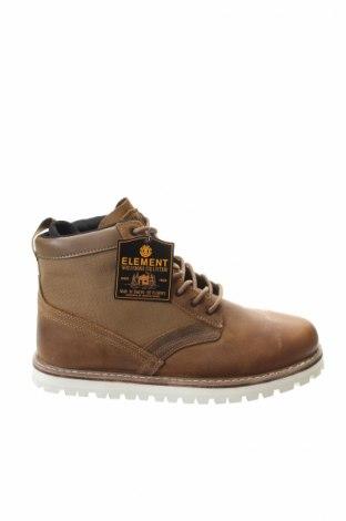 Ανδρικά παπούτσια Element, Μέγεθος 42, Χρώμα Καφέ, Γνήσιο δέρμα, κλωστοϋφαντουργικά προϊόντα, Τιμή 36,57€