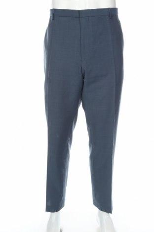 Pánske nohavice , Veľkosť XL, Farba Modrá, 55% polyester, 45% vlna, Cena  5,67€