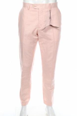 Ανδρικό παντελόνι Feraud, Μέγεθος L, Χρώμα Ρόζ , 55% λινό, 45% βαμβάκι, Τιμή 30,28€